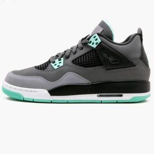 Nike Air Jordan 4 Retro Green/Grey 10.5